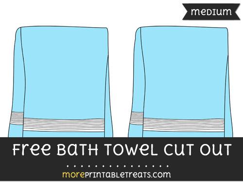 Free Bath Towel Cut Out - Medium Size Printable