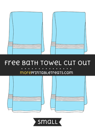 Free Bath Towel Cut Out - Small Size Printable