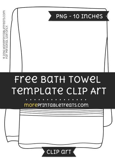 Free Bath Towel Template - Clipart