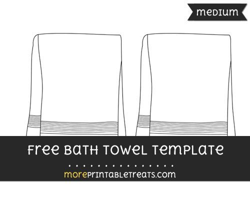 Free Bath Towel Template - Medium