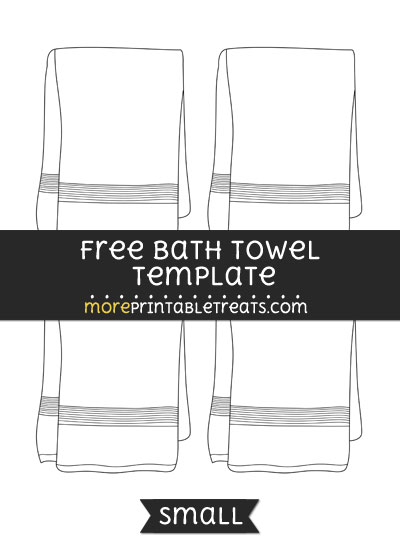 Free Bath Towel Template - Small