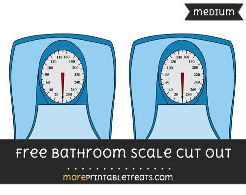 Free Bathroom Scale Cut Out - Medium Size Printable