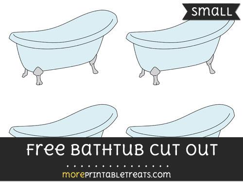 Free Bathtub Cut Out - Small Size Printable