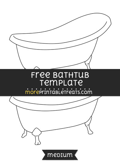 Free Bathtub Template - Medium