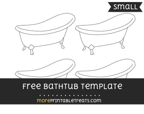 Free Bathtub Template - Small