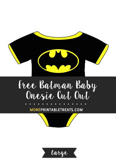 Free Batman Baby Onesie Cut Out - Large
