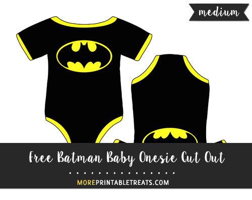 Free Batman Baby Onesie Cut Out - Medium