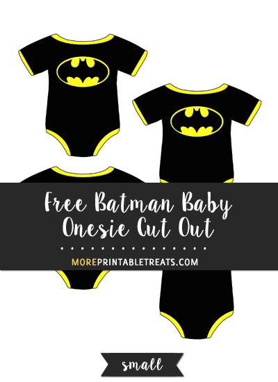 Free Batman Baby Onesie Cut Out - Small