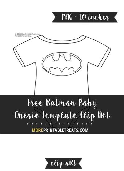 Free Batman Baby Onesie Template - Clipart