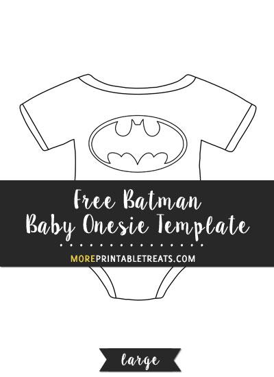Free Batman Baby Onesie Template - Large