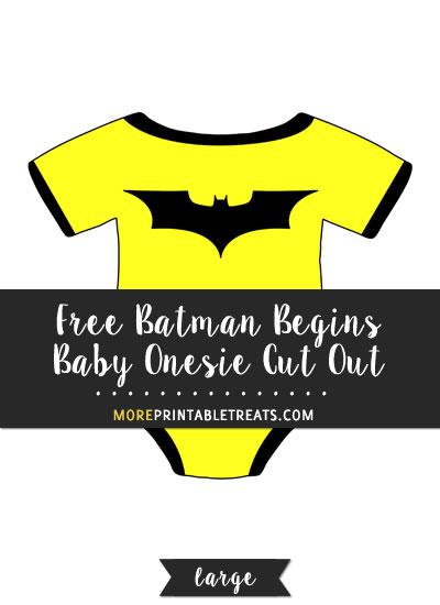 Free Batman Begins Baby Onesie Cut Out - Large