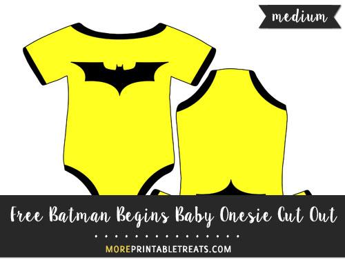 Free Batman Begins Baby Onesie Cut Out - Medium