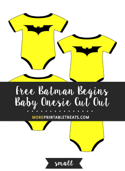Free Batman Begins Baby Onesie Cut Out - Small