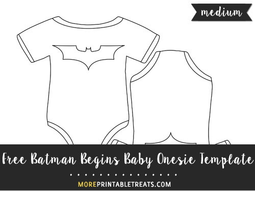 Free Batman Begins Baby Onesie Template - Medium Size