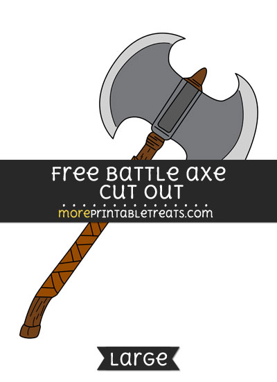 Free Battle Axe Cut Out - Large size printable