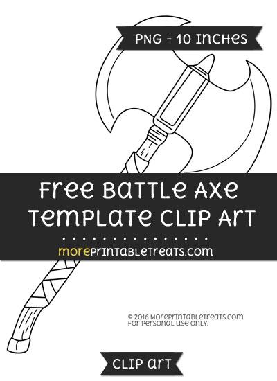 Free Battle Axe Template - Clipart