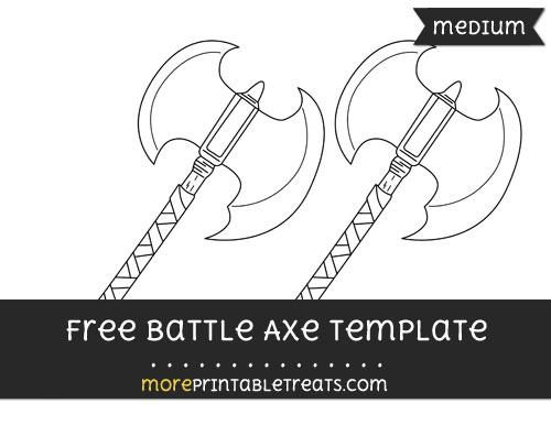 Free Battle Axe Template - Medium
