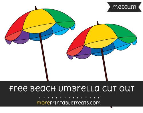 Free Beach Umbrella Cut Out - Medium Size Printable