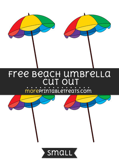 Free Beach Umbrella Cut Out - Small Size Printable