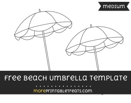 Free Beach Umbrella Template - Medium