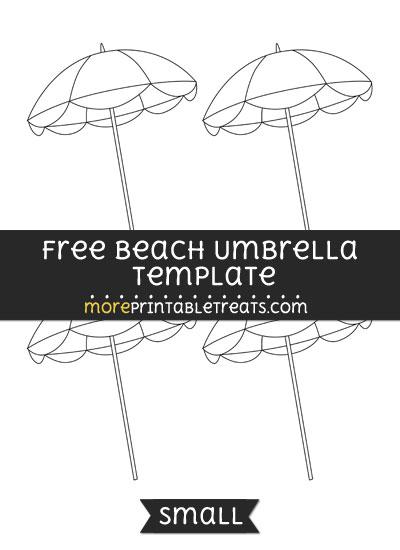 Free Beach Umbrella Template - Small