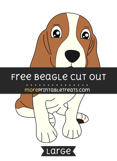 Free Beagle Cut Out - Large size printable