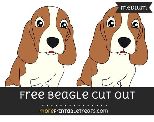 Free Beagle Cut Out - Medium Size Printable