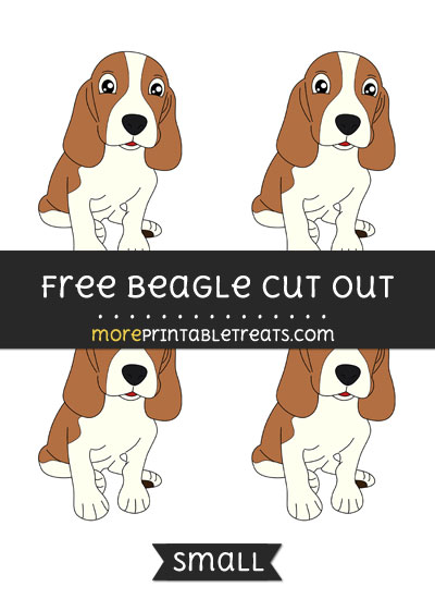 Free Beagle Cut Out - Small Size Printable