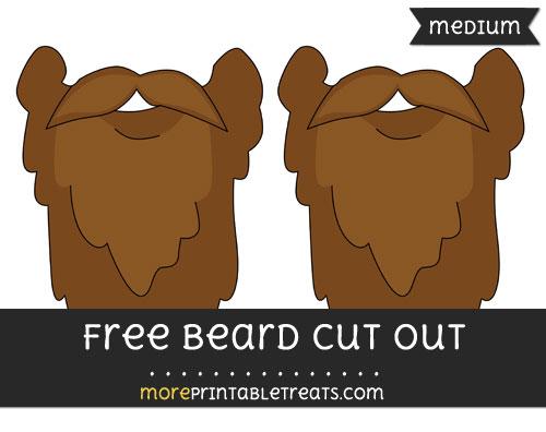 Free Beard Cut Out - Medium Size Printable
