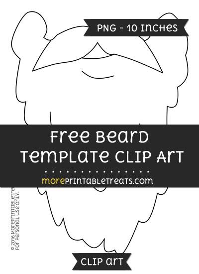 Free Beard Template - Clipart