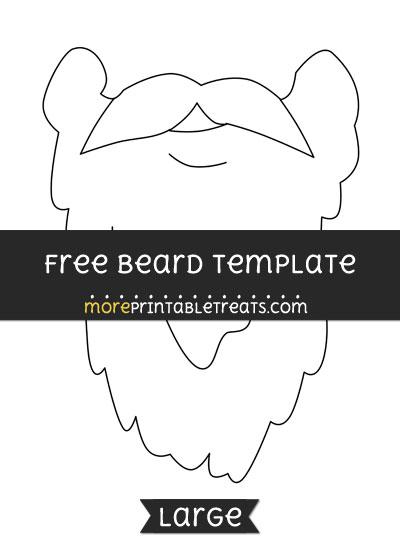 Free Beard Template - Large