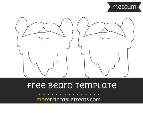 Free Beard Template - Medium