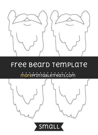 Free Beard Template - Small