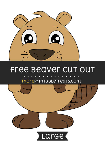 Free Beaver Cut Out - Large size printable