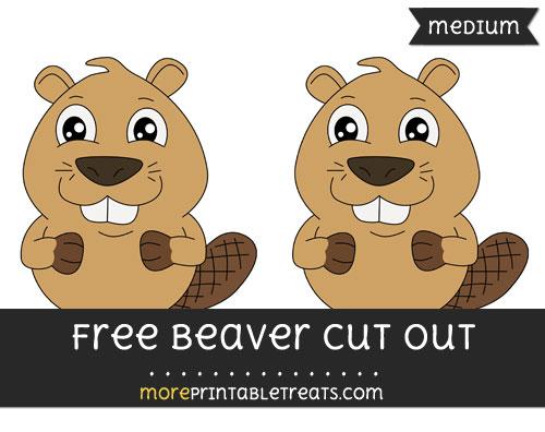 Free Beaver Cut Out - Medium Size Printable