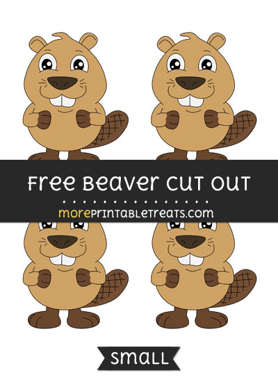 Free Beaver Cut Out - Small Size Printable