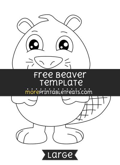 Free Beaver Template - Large
