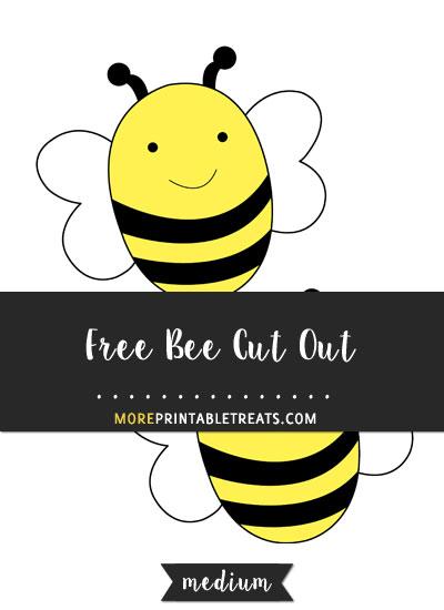 Free Bee Cut Out - Medium