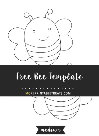 Free Bee Template - Medium Size