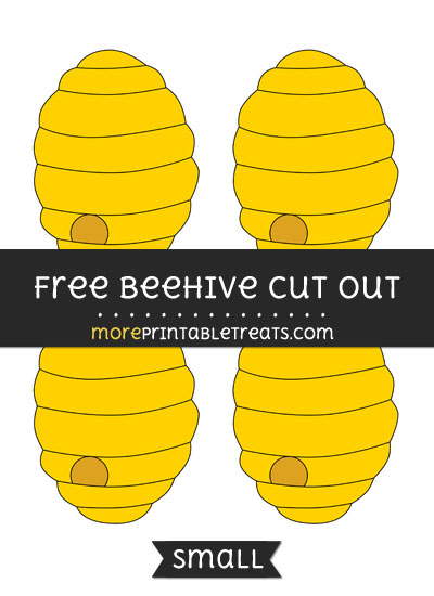 Free Beehive Cut Out - Small Size Printable