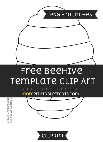 Free Beehive Template - Clipart