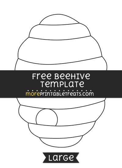 Free Beehive Template - Large