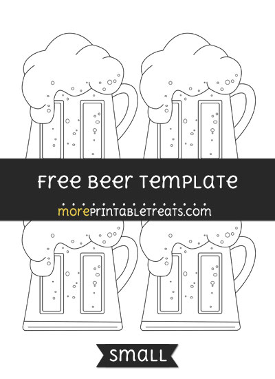 Free Beer Template - Small