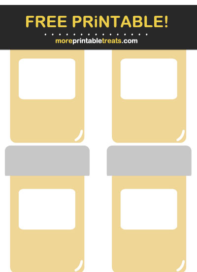 Free Printable Beige Medicine Bottle Icons