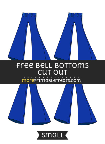 Free Bell Bottoms Cut Out - Small Size Printable