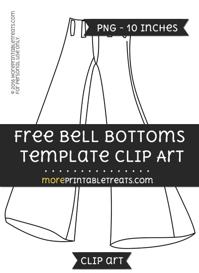 Free Bell Bottoms Template - Clipart