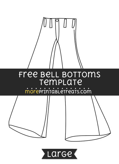 Free Bell Bottoms Template - Large