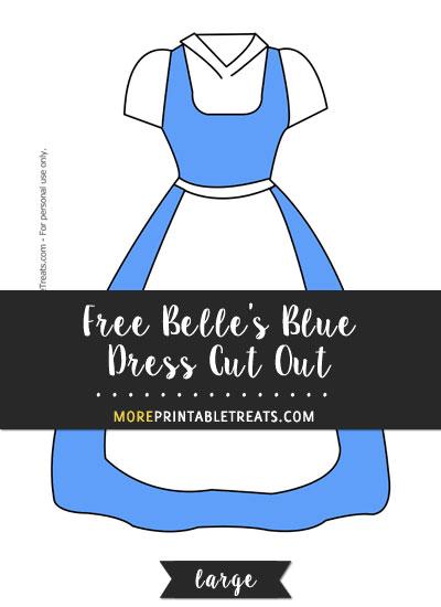 Free Belle's Blue Dress Cut Out - Large