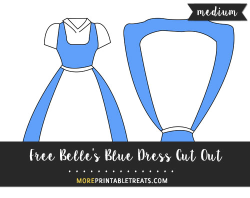 Free Belle's Blue Dress Cut Out - Medium