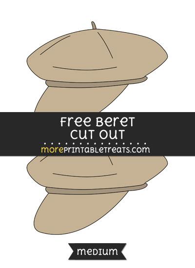Free Beret Cut Out - Medium Size Printable